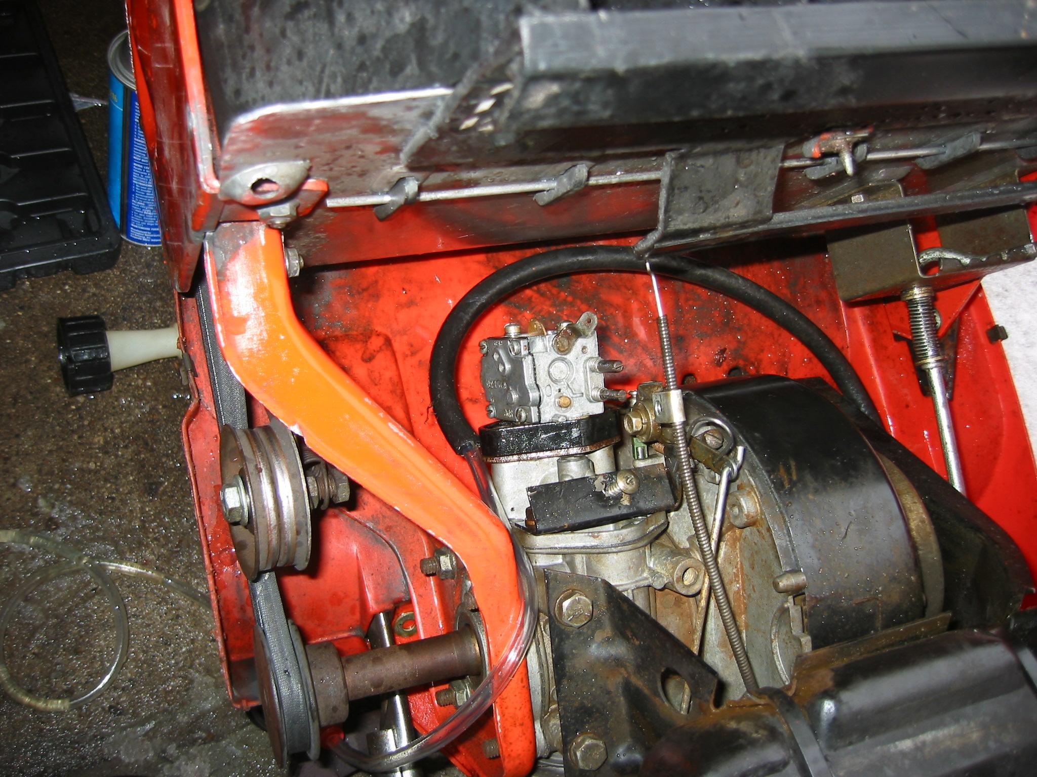 Jacobsen Sno-Burst Carburetor Overhaul