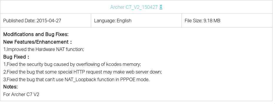 OpenWRT / LEDE on late serial number TP-LINK Archer C7 V2